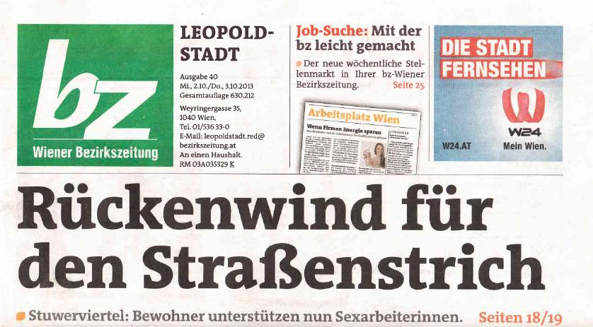 Wiener Bezirkszeitung Titel